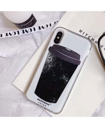 iPhone Dynamic Liquid Quicksand Coffee Cup Case