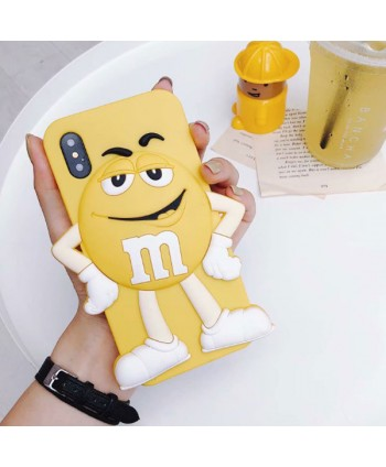 iPhone X M&M Chocolate Bean Silicone Case