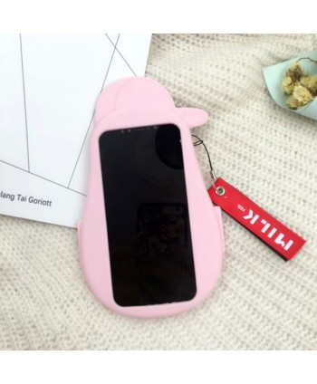 iPhone Cartoon 3D Barbapapa Silicone Protective Case