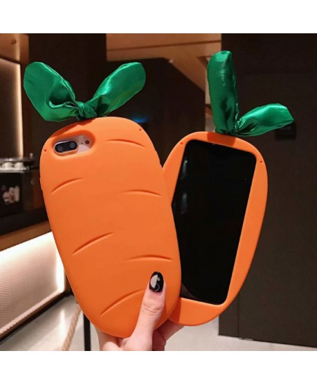 iPhone 3D Carrot Silicone Protective Case
