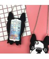 iPhone 3D Cartoon Bulldog Silicone Case