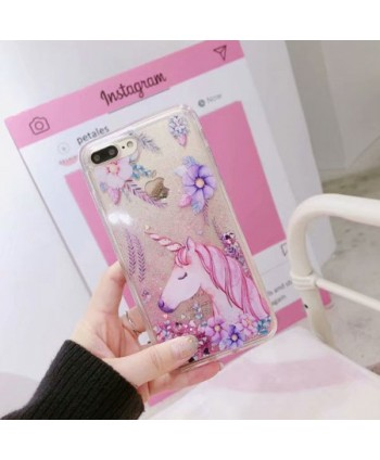 iPhone Liquid Glitter Quicksand Unicorn Case