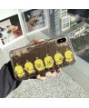 Cute Yellow Ducks Liquid Glitter Quicksand iPhone Case