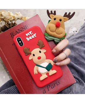 iPhone Cute 3D Deer Soft Silicone Case