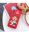 iPhone Cute 3D Deer Soft Silicone Case