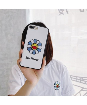 iPhone Embroidery Sunflower Protective Case