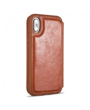iPhone Premium Handcrafted Leather Flip Case - Brown