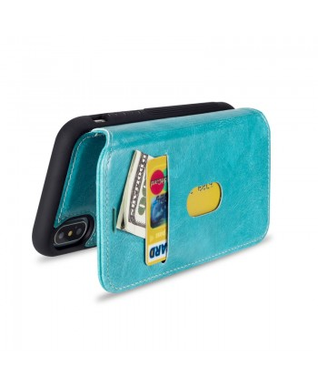 iPhone Premium Handcrafted Leather Flip Case - Blue