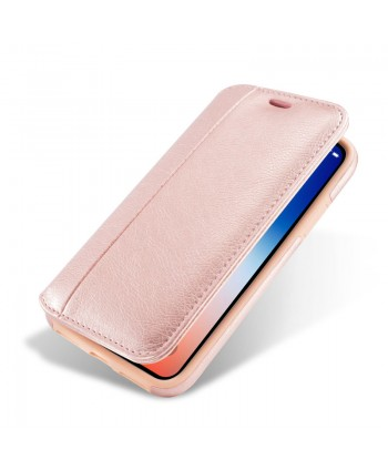 iPhone Premium Handcrafted Leather Flip Case - Rose Gold