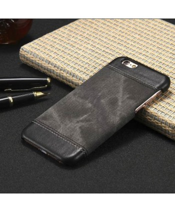 iPhone Slim Leather Business Back Case - Black