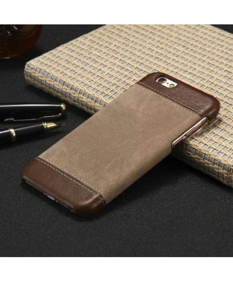 iPhone Slim Leather Business Back Case - Brown