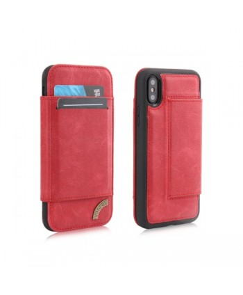 iPhone Matte Leather Folio Card Case - Red