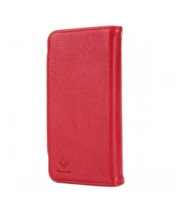 iPhone Handcrafted Leather Magnetic Detachable Wallet Case - Red