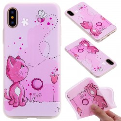3D Relief Pink Cat& Bee iPhone Protective Case