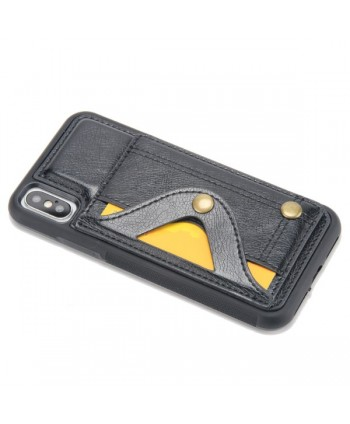 iPhone Leather Card Case With Hidden Mirror - Black