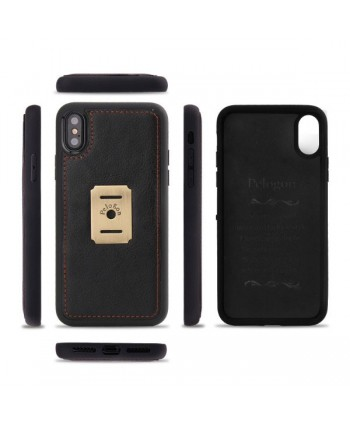 iPhone Magnetic Detachable Leather Wallet Case - Black