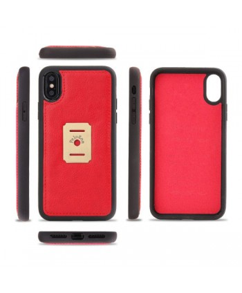 iPhone Magnetic Detachable Leather Wallet Case - Red