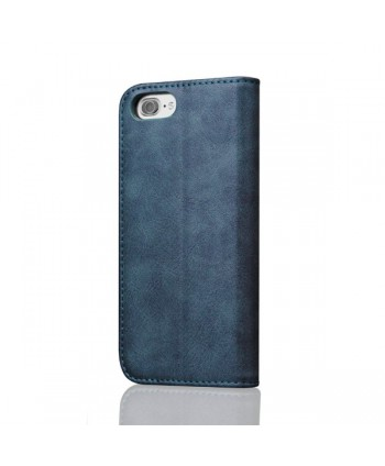 iPhone Leather Folio Case With Card Holder - Blue