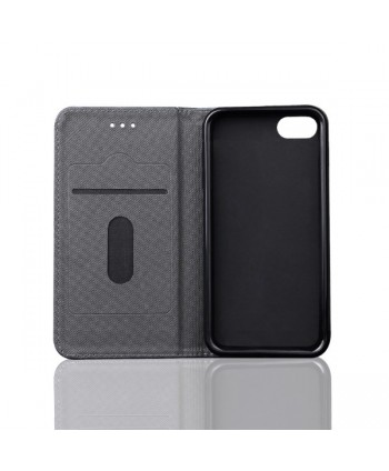 iPhone Leather Folio Case With Card Holder - Black
