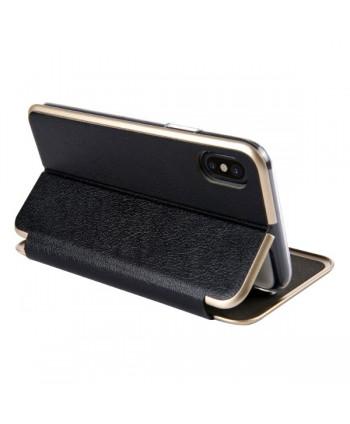 iPhone Slim Leather Book Style Flip Case - Black