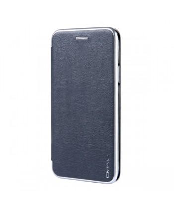 iPhone Slim Leather Book Style Flip Case - Grey