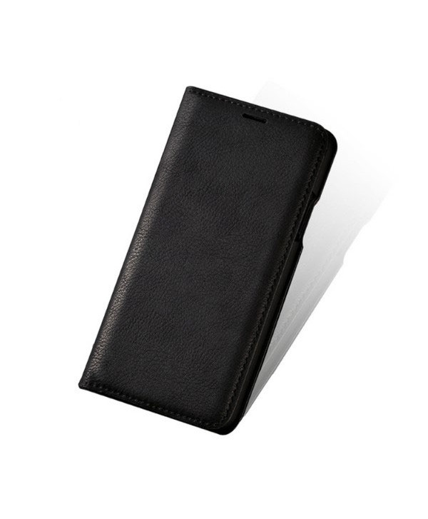 iPhone Handcrafted Vintage Crazy Horse Leather Folio Case - Black
