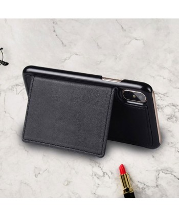 iPhone Handcrafted Leather Wallet Case With Zipper Pocket - Black
