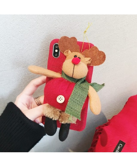 iPhone Plush Toy 3D Christmas Reindeer Case