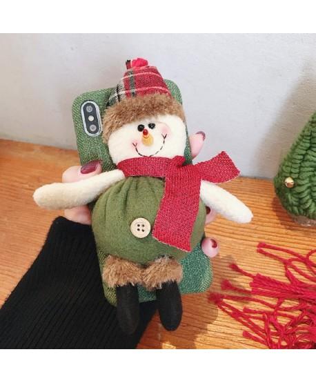 iPhone Plush Toy 3D Christmas Snowman Case