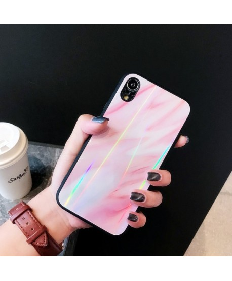 iPhone XS Max Slim Holographic Marble Protective Case