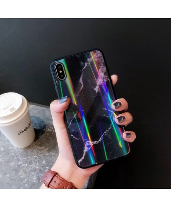 iPhone Slim Holographic Marble Protective Case