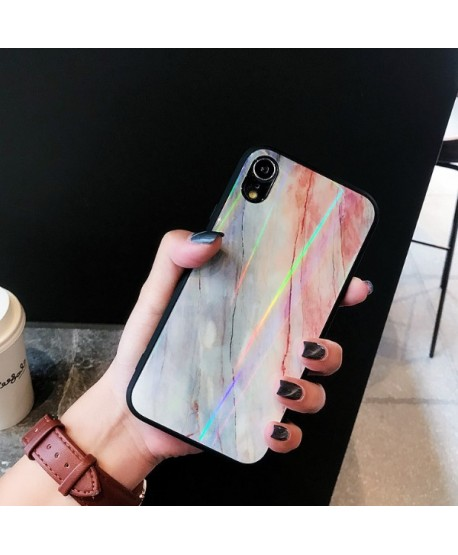 iPhone XR Slim Holographic Marble Protective Case