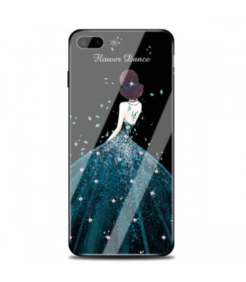 Tempered Glass Iphone Case - The Girl In A Pretty Dress (3 Pieces Included)
