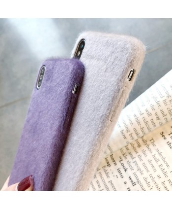 iPhone X Fuzzy Protective Case
