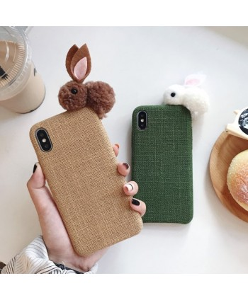 iPhone X Fabric Doll Bunny Protective Case