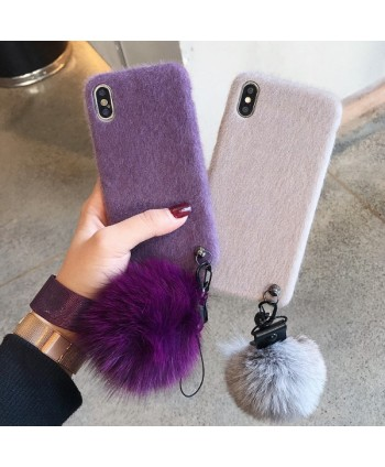 iPhone X Fuzzy Protective Case