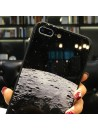 Tempered Glass iPhone Cases - The Galaxy And The Moon