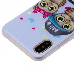 Lovely Couple Owl 3D Relief iPhone Case