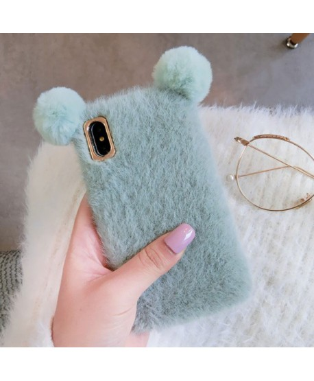 iPhone XS Fluffy Fuzzy Fur Mickey Mouse Case
