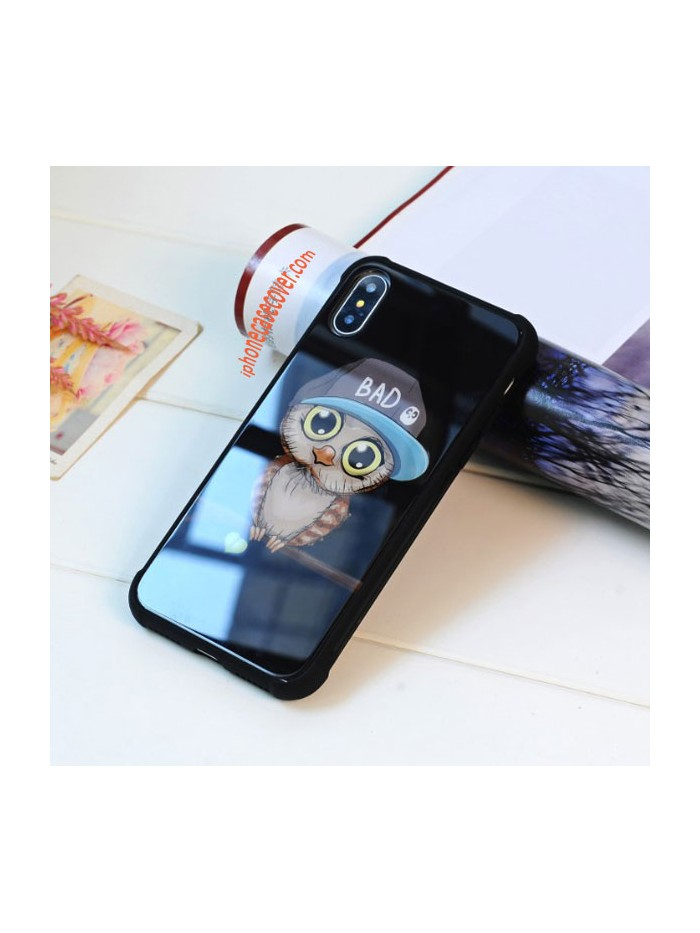 Tempered Glass iPhone Cases - The Owl (5 Pieces Included)