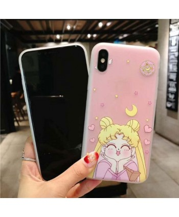 iPhone X 3D Relief Cartoon Sailor Moon Case