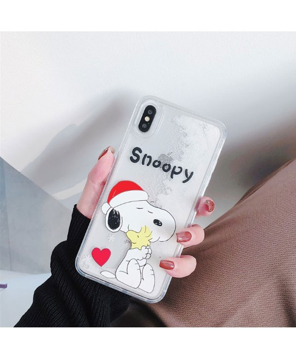 iPhone Snoopy Liquid Glitter Quicksand Case