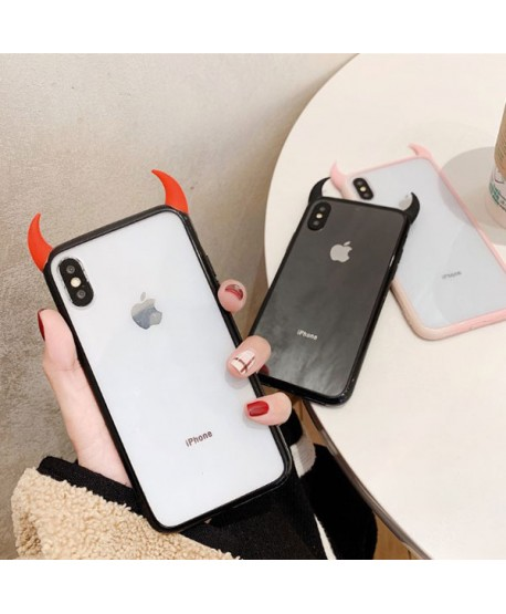 Creative Little Devil's Horn Case For iPhone XS