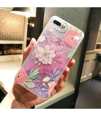 Dynamic iPhone Cases - The Succulent And The Flowers (2 Pieces Included)