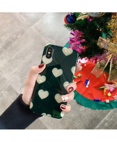 iPhone XS Max Conch Shell Effect Hearts Case