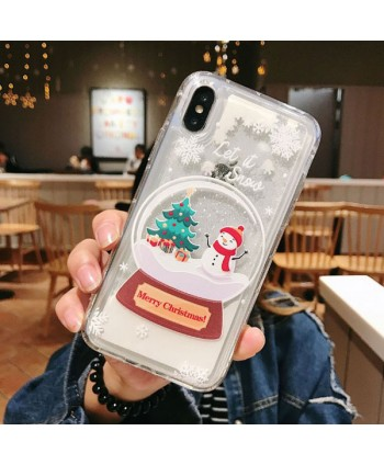 iPhone Christmas Liquid Quicksand Case