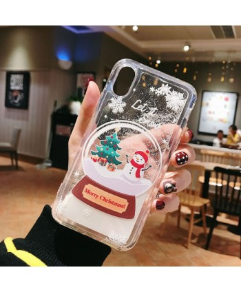 iPhone Christmas Liquid Quicksand Case