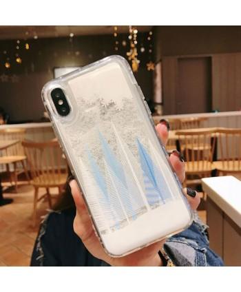 iPhone Christmas Tree Liquid Quicksand Case