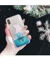 iPhone Christmas Polar Bear Liquid Quicksand Case