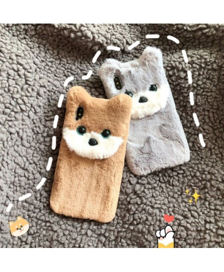 iPhone X 3D Fuzzy Fur Cokey Protective Case